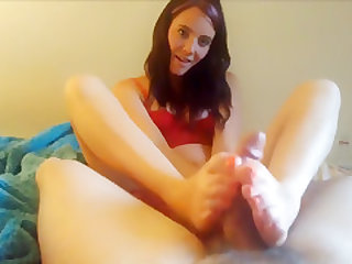 Crazy homemade Foot Fetish, Handjob xxx video