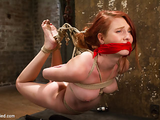 Sgt. Major  Ashley Lane in Redhead Newcomer Taken By Sergeant Major - HogTied